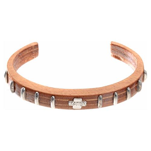 Bracelet dizainier MATER bois et argent 1