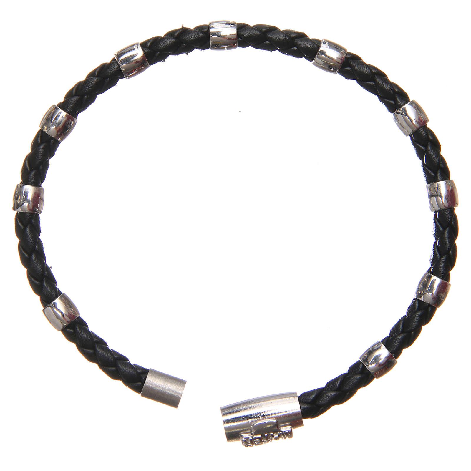 Bracciale MATER nero croce e decina argento 925 4