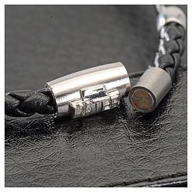 Bracciale MATER nero croce e decina argento 925 s4