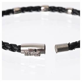 Bracciale MATER nero croce e decina argento 925 s6