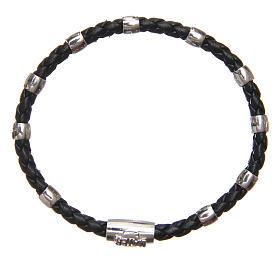 Bracciale MATER nero croce e decina argento 925 s7