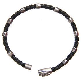 Bracciale MATER nero croce e decina argento 925 s8