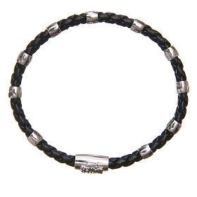 Bracciale MATER nero croce e decina argento 925 s1
