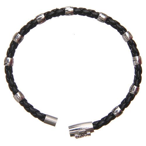 Bracciale MATER nero croce e decina argento 925 2