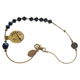 Bracelet, One Decade rosary beads, sterling silver and Swarovski s1