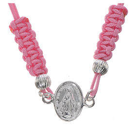 Bracelet Miraculeuse corde rose argent 800 s1