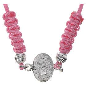 Bracelet Miraculeuse corde rose argent 800 s2