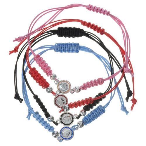 Bracelet Pape François médaille argent 925 corde 1