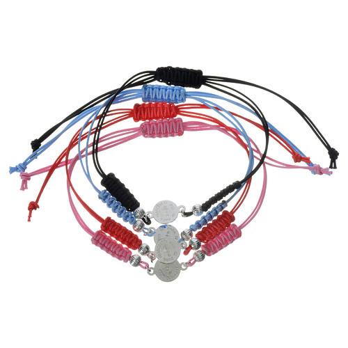 Bracelet Pape François médaille argent 925 corde 2