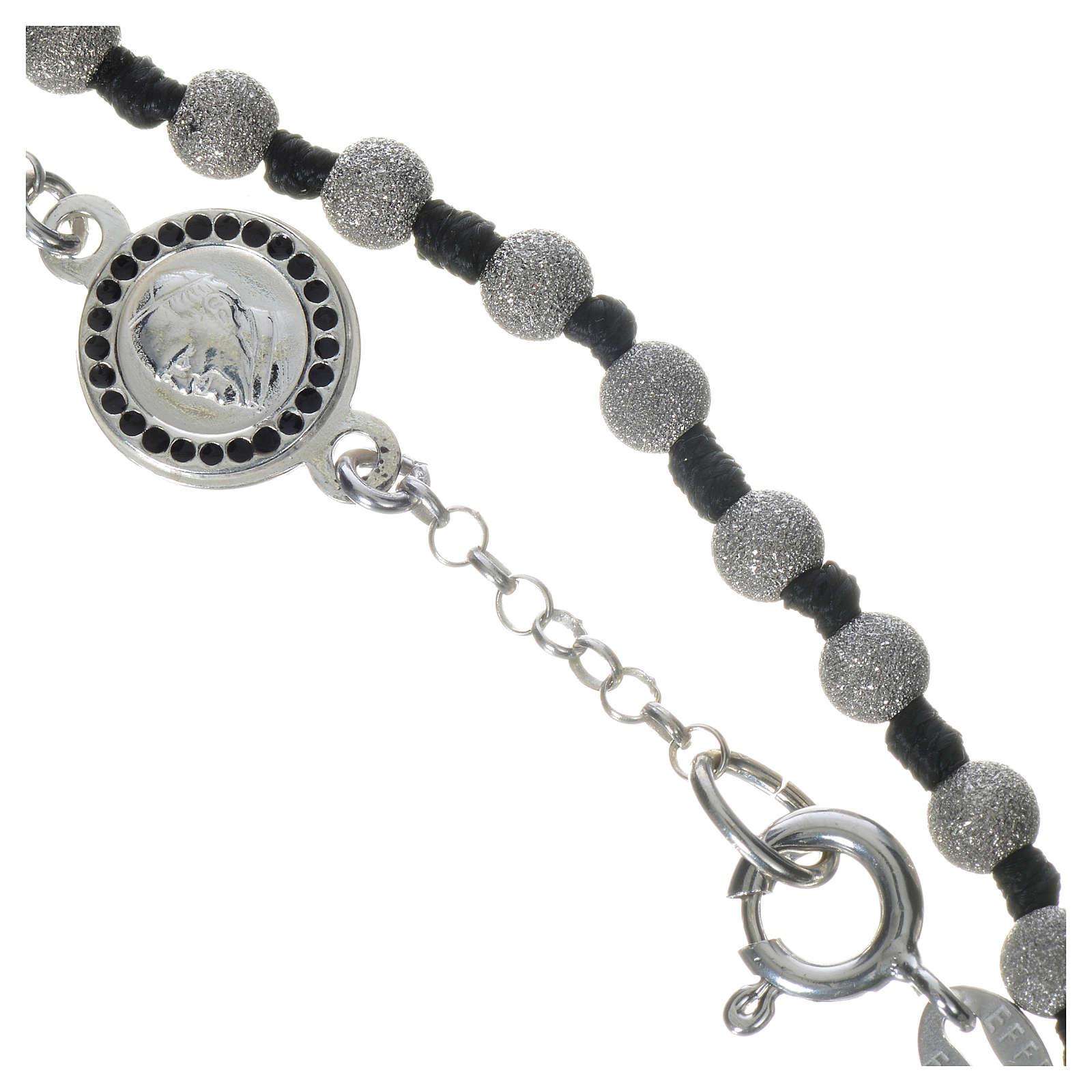 Pope Francis 800 silver one-decade bracelet, diamond effect grains 4