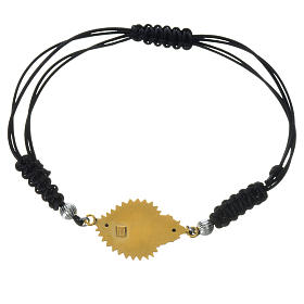 Bracelet corde argent 925 coeur exvoto s2