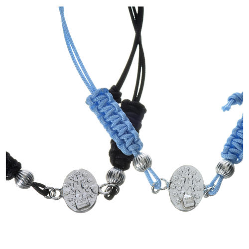 Bracelet with Miraculous Medal in 925 silver and cord 2
