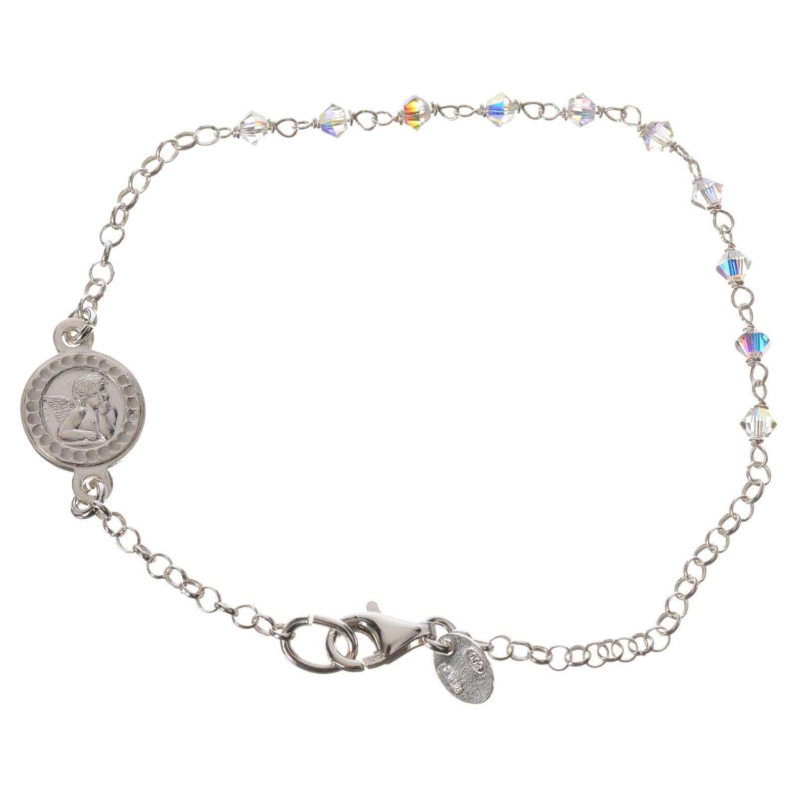 Bracelet argent 800 et Swarovski 4