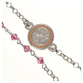Bracciale argento 800 Swarovski rosa angelo custode s2