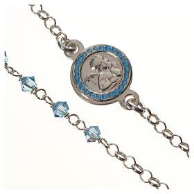 Bracelet argent 800 Swarovski bleus Ange Gardien s2