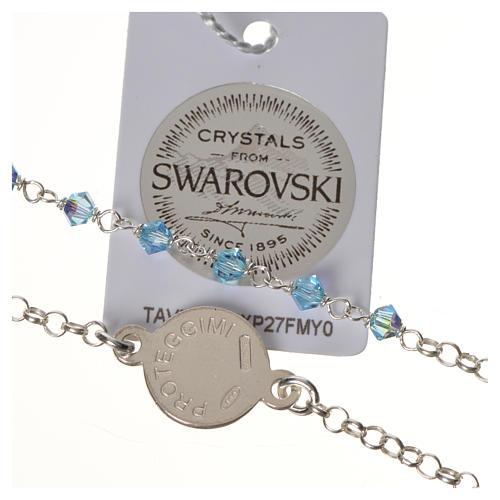 Bracelet argent 800 Swarovski bleus Ange Gardien 3