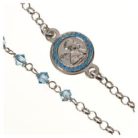 Bracciale argento 800 Swarovski azzurri angelo custode s2