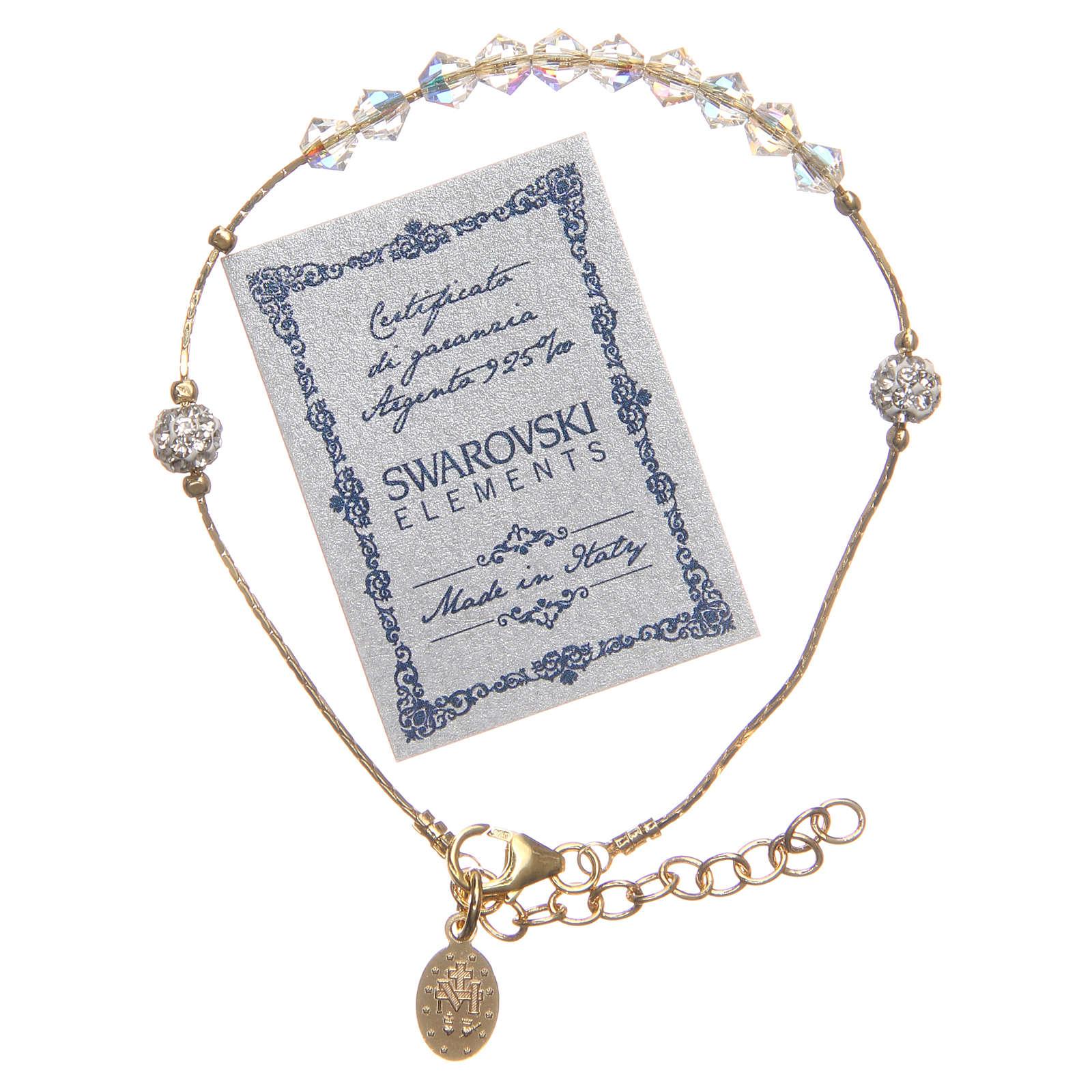 Bracciale Argento 925 dorato e Swarovski grano cristallo 4