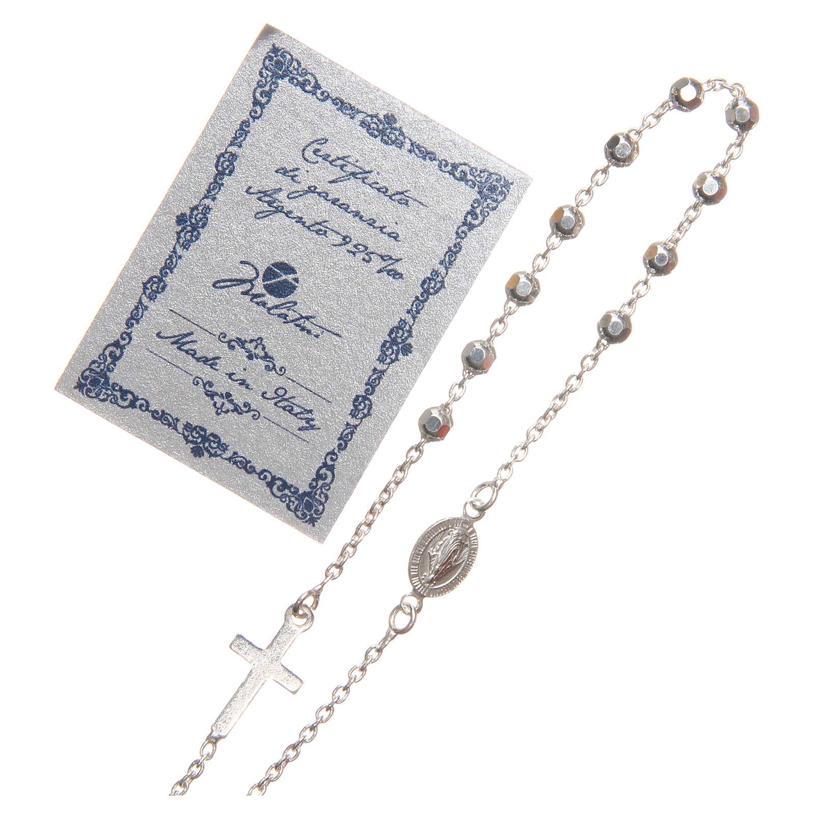 Bracciale argento 925 grani 3 mm 4