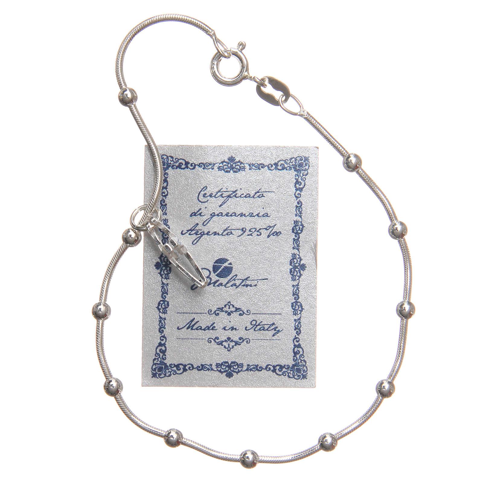 Braccialetto argento 925 grani 3 mm 4