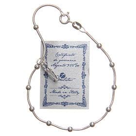 Braccialetto argento 925 grani 3 mm s3