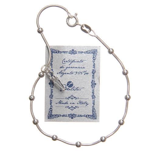 Braccialetto argento 925 grani 3 mm 3