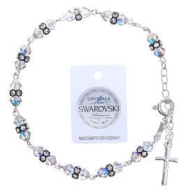 Bracciale rosario cristallo Swarovski conico bianco s2