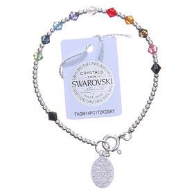 Bracciale rosario bimba Swarovski multicolor s2