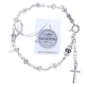 Bracciale rosario cristallo Swarovski conico bianco 5 mm s2