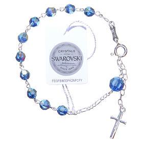 Bracciale rosario cristallo Swarovski 6 mm azzurro s2