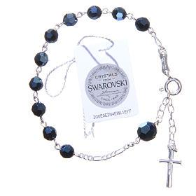 Bracciale rosario cristallo Swarovski 6 mm blu s2