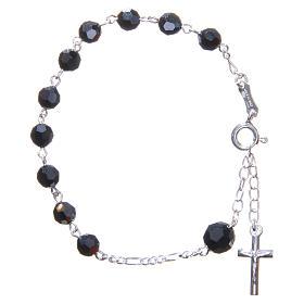 Bracciale rosario cristallo Swarovski 6 mm nero s1