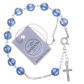 Bracciale argento 800 cristallo Swarovski 8 mm azzurro s2