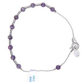 Bracciale rosario argento 800 ametista 4 mm s2