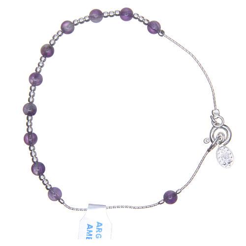 Bracciale rosario argento 800 ametista 4 mm 2