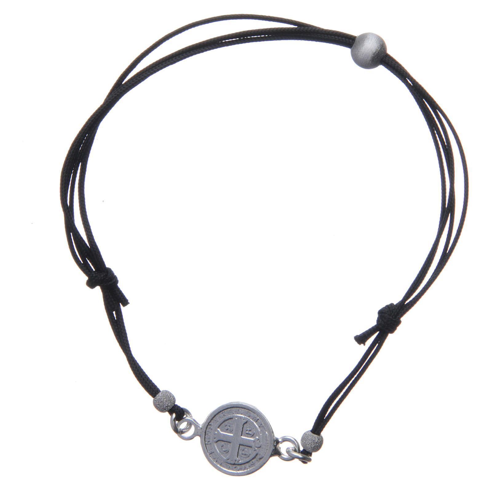 Bracciale Medaglia San Benedetto e perline argento 925 4