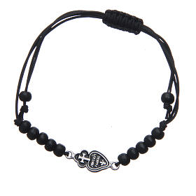 Bracelet with Passionists symbol in 925 silver s1