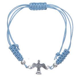 Bracciale sagola azzurra Colomba Argento 800 s2