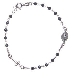 Bracciale rosario colore blu argento 925 s1