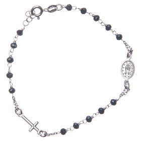 Bracciale rosario colore blu argento 925 s2
