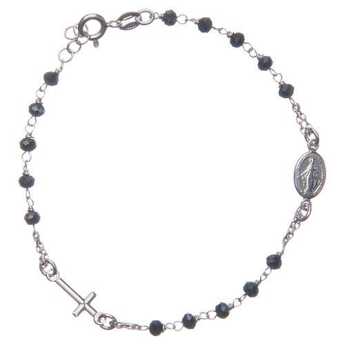Bracciale rosario colore blu argento 925 1
