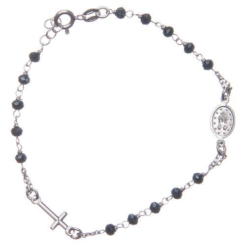 Bracciale rosario colore blu argento 925 2