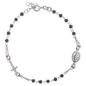 Pulsera rosario color negro plata 925 s1