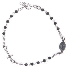 Pulsera rosario color negro plata 925 s2