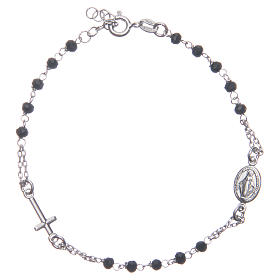 Bracelets en argent: Bracelet chapelet couleur noir argent 925