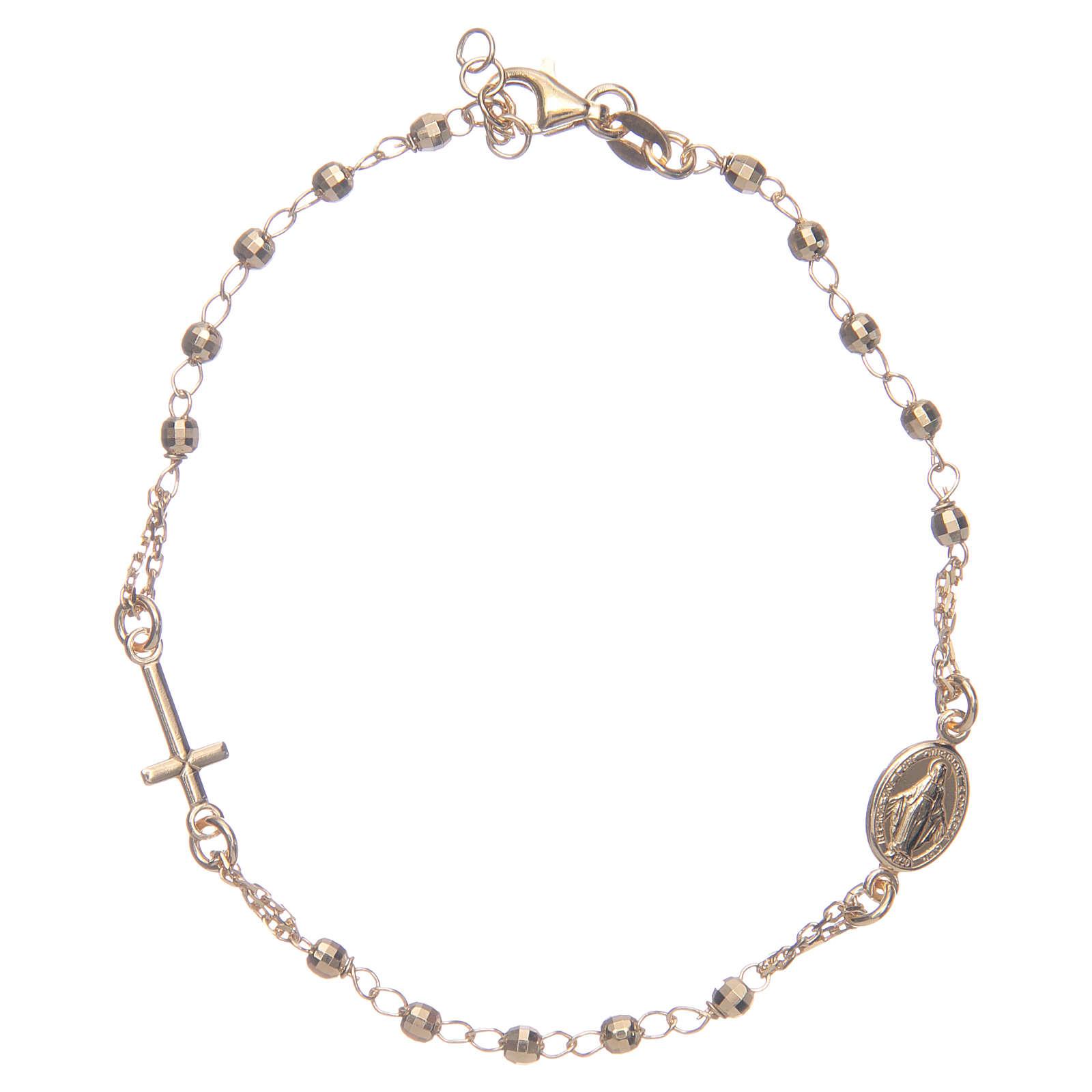 Pulsera rosario color dorado plata 925 4