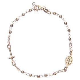 Pulsera rosario color dorado plata 925 s2