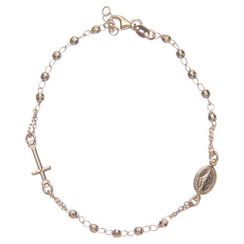 Pulsera rosario color dorado plata 925 1