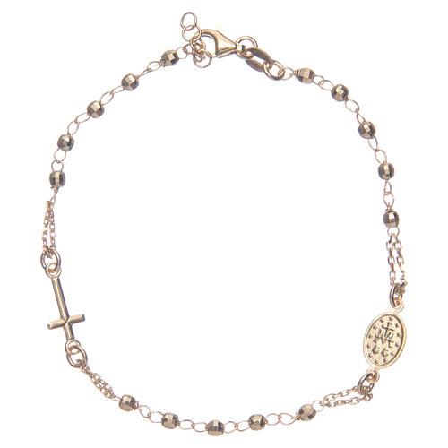 Pulsera rosario color dorado plata 925 2
