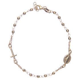 Bracciale rosario colore dorato argento 925 s1